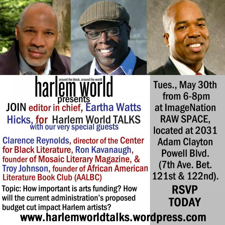 Harlem World Talks featuring Troy Johnson, Ron Kavanaugh,and Clarence Reynolds