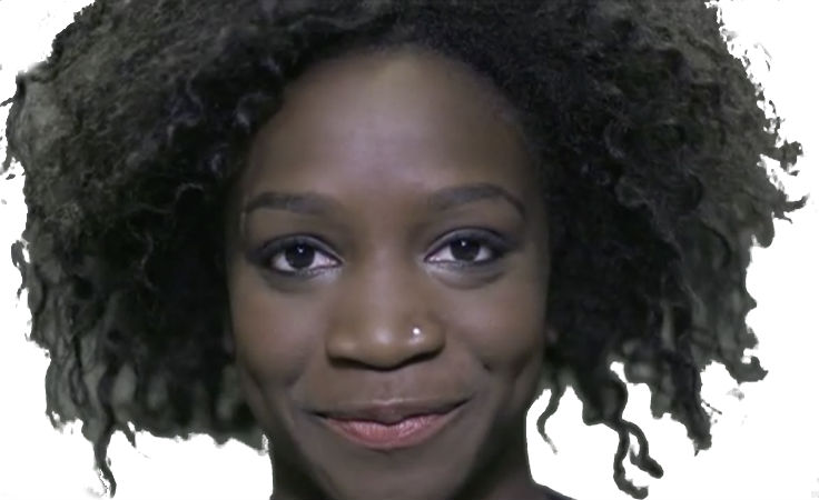 Black Model form the Dove commercial