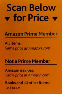Amazon in store book prices