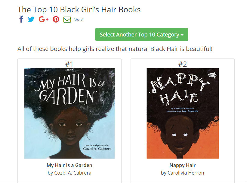 Top 10 Black Girl Hair Books