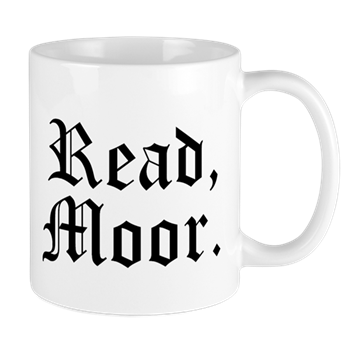 "Buy the ""read moor"" mug"