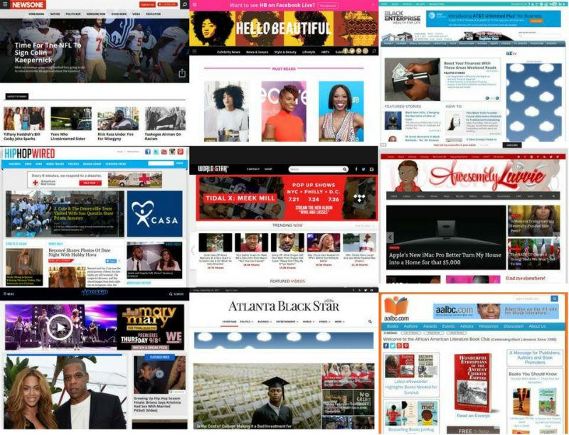Black media websites